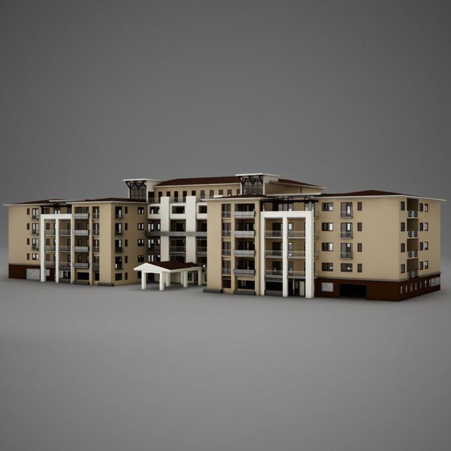 Nowoczesna tropikalna łacińska meksykańska plaża Tower Hotel Hacienda royalty-free 3d model - Preview no. 3