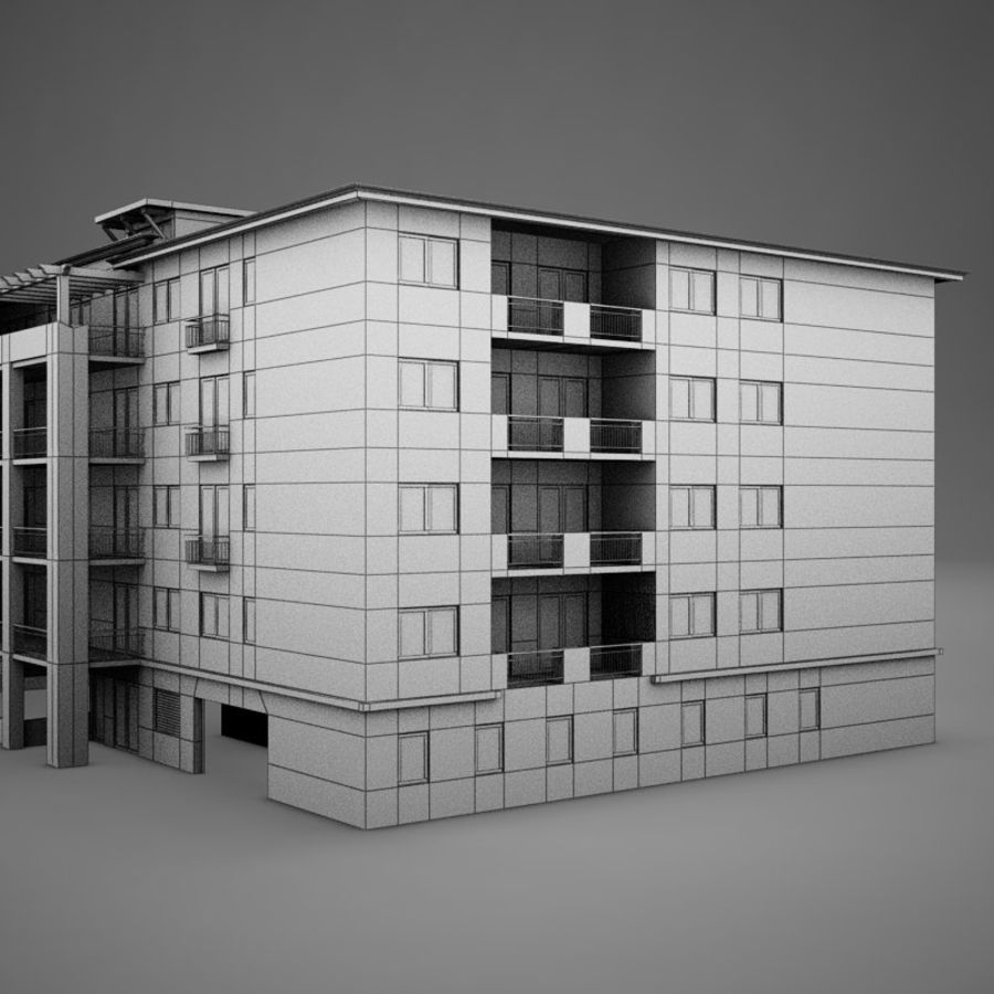 Nowoczesna tropikalna łacińska meksykańska plaża Tower Hotel Hacienda royalty-free 3d model - Preview no. 13