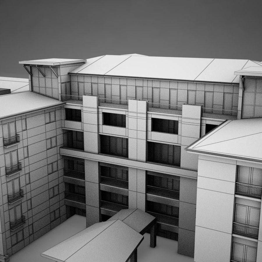 Nowoczesna tropikalna łacińska meksykańska plaża Tower Hotel Hacienda royalty-free 3d model - Preview no. 15