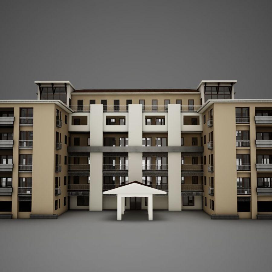 Nowoczesna tropikalna łacińska meksykańska plaża Tower Hotel Hacienda royalty-free 3d model - Preview no. 2