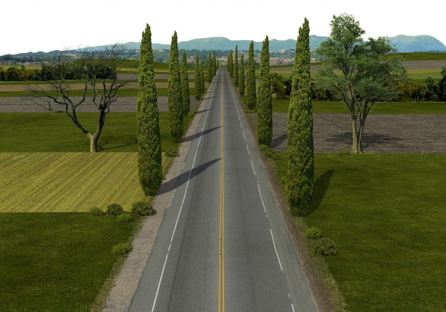 Road royalty-free 3d model - Preview no. 3
