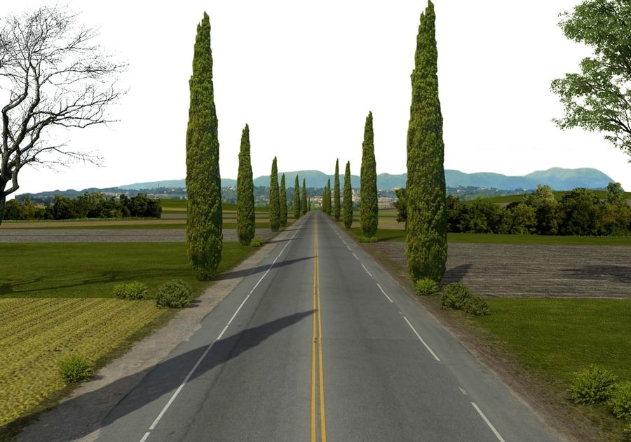 Road royalty-free 3d model - Preview no. 2