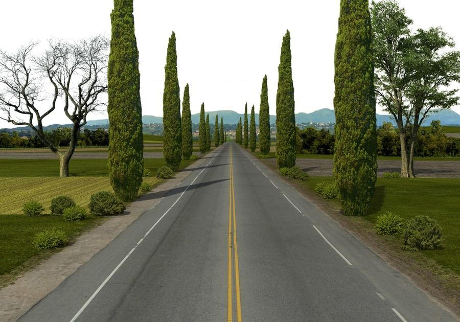 Road royalty-free 3d model - Preview no. 1