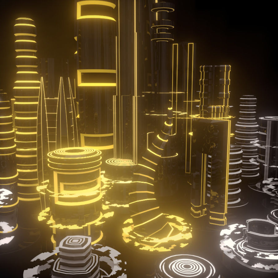 SciFi City royalty-free 3d model - Preview no. 1