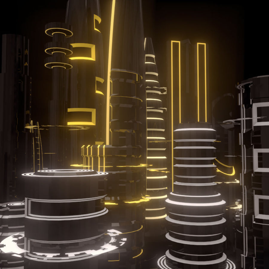 SciFi City royalty-free 3d model - Preview no. 7