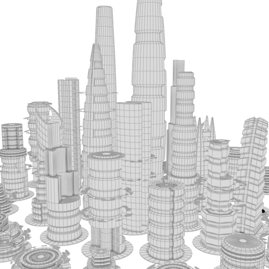 SciFi City royalty-free 3d model - Preview no. 10