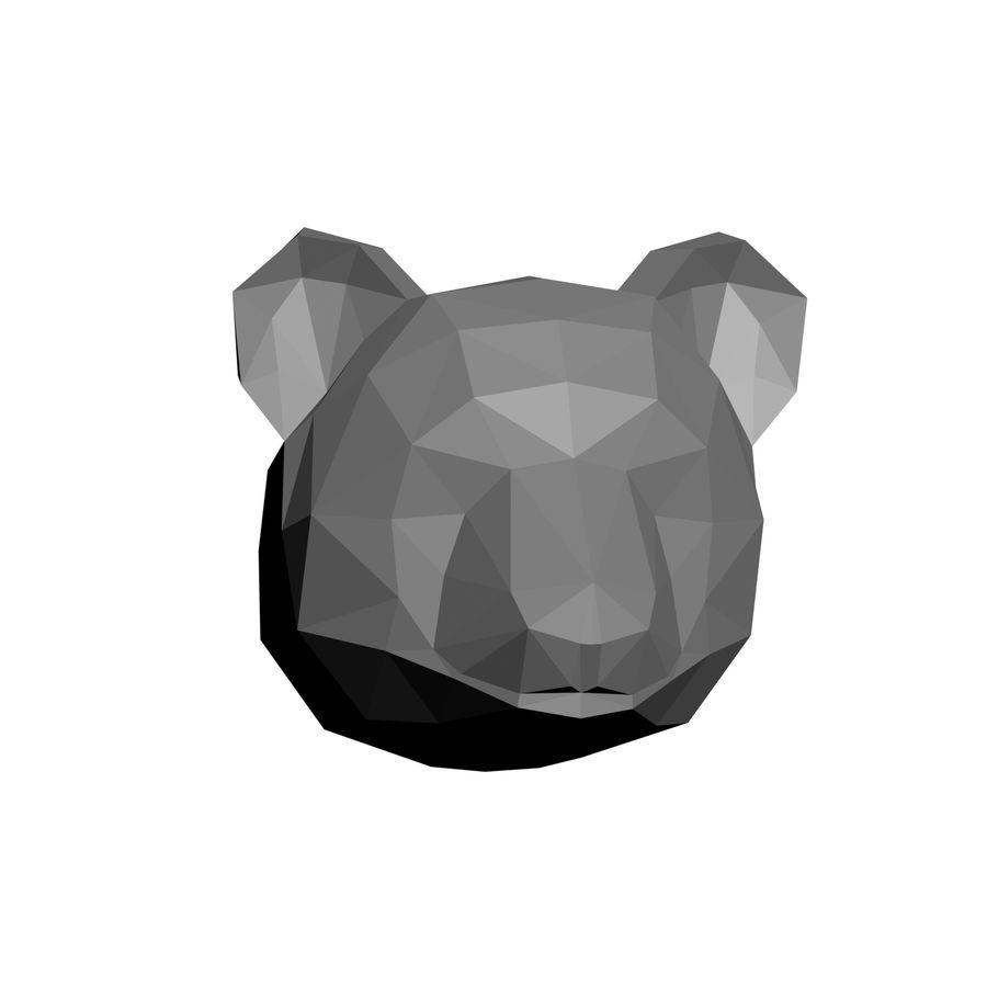low-poly panda model royalty-free 3d model - Preview no. 2