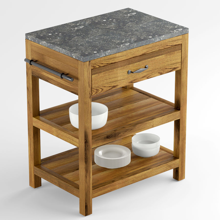 Astonishing Crate And Barrel Bluestone Reclaimed Kitchen Island 3D Model Download Free Architecture Designs Scobabritishbridgeorg