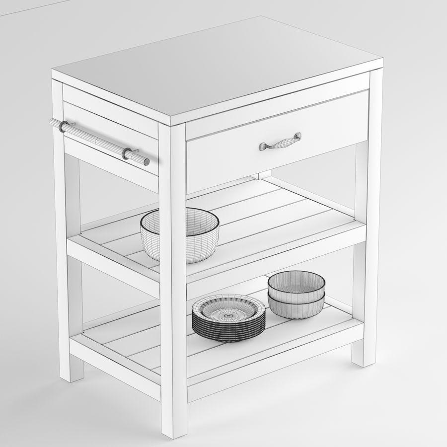 Crate and Barrel Bluestone Reclaimed Kitchen Island 3D Model ...