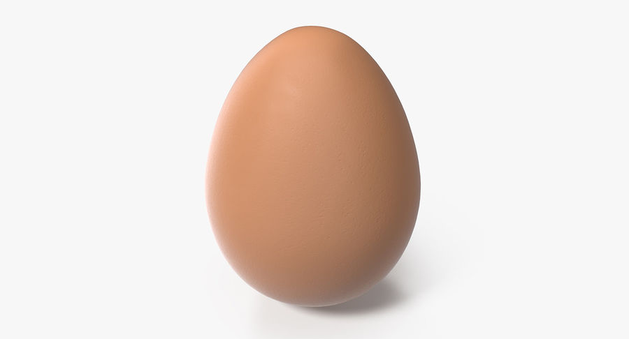 Brown Chicken Egg royalty-free 3d model - Preview no. 2