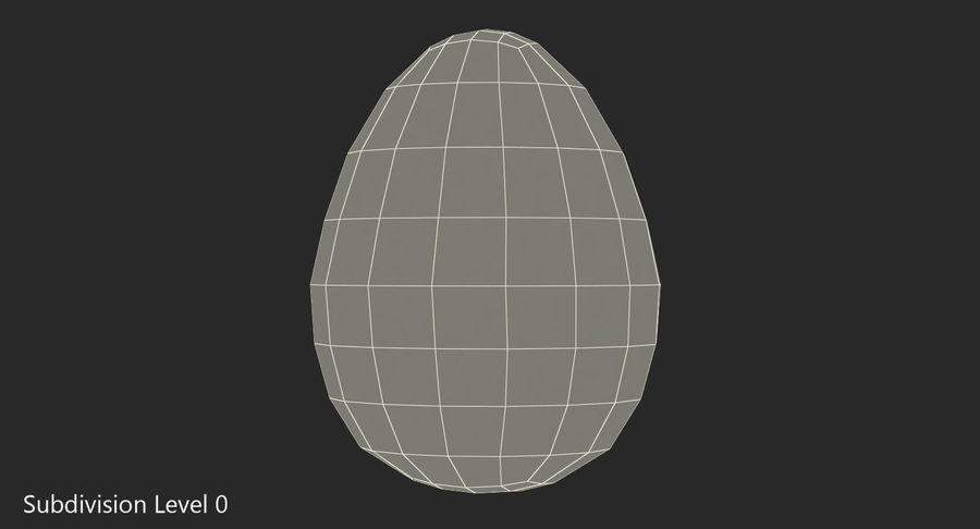 Brown Chicken Egg royalty-free 3d model - Preview no. 6