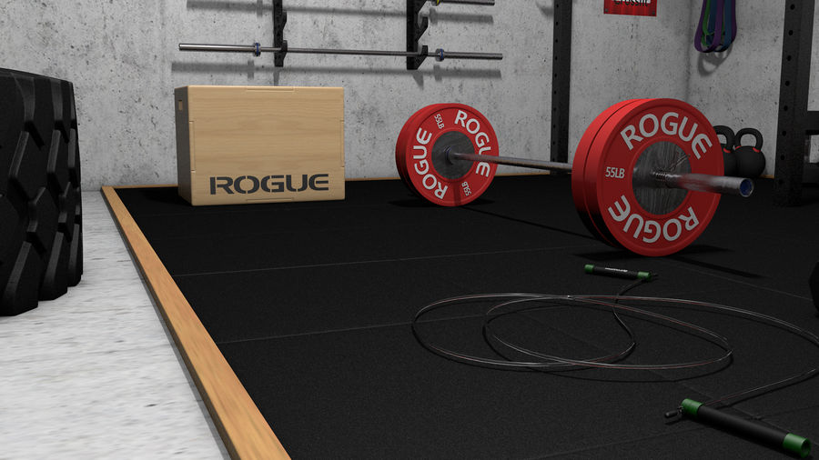 Crossfit Box royalty-free 3d model - Preview no. 11