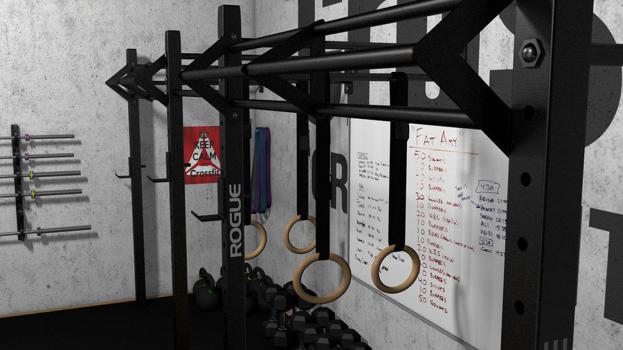 Crossfit Box royalty-free 3d model - Preview no. 17