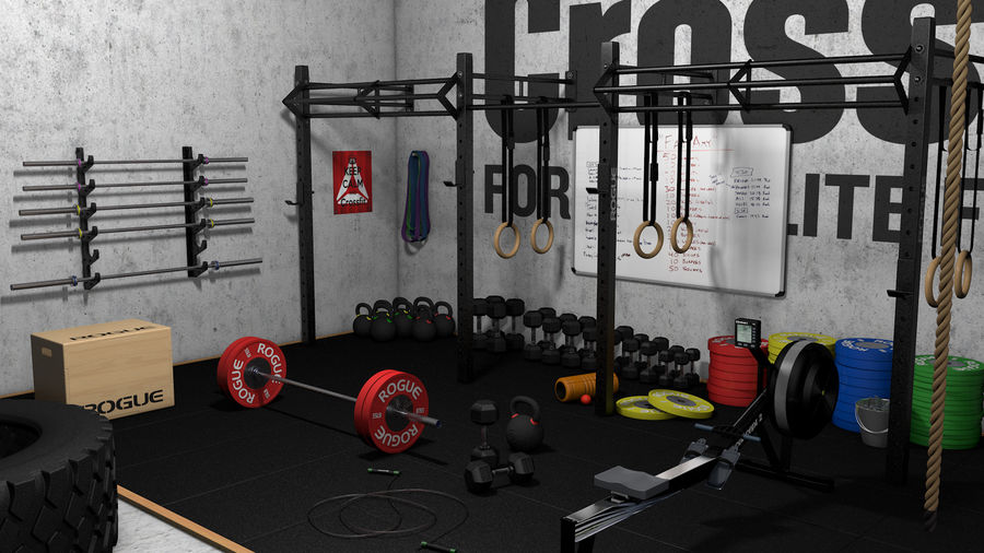 Crossfit Box royalty-free 3d model - Preview no. 1