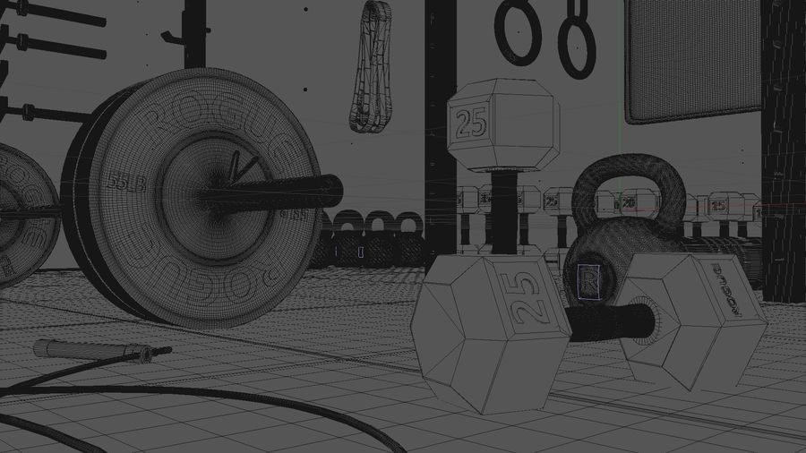 Crossfit Box royalty-free 3d model - Preview no. 20