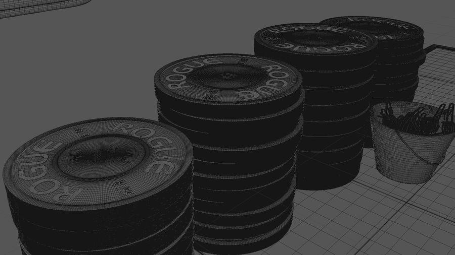 Crossfit Box royalty-free 3d model - Preview no. 10