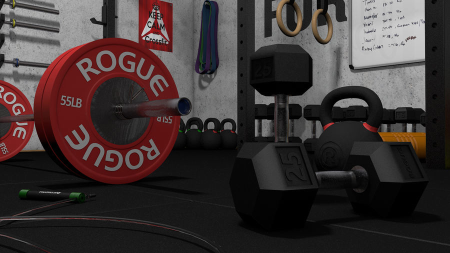 Crossfit Box royalty-free 3d model - Preview no. 19