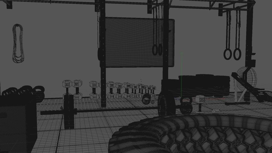 Crossfit Box royalty-free 3d model - Preview no. 14