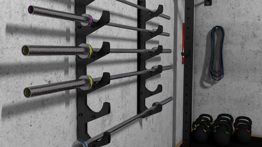 Crossfit Box royalty-free 3d model - Preview no. 15
