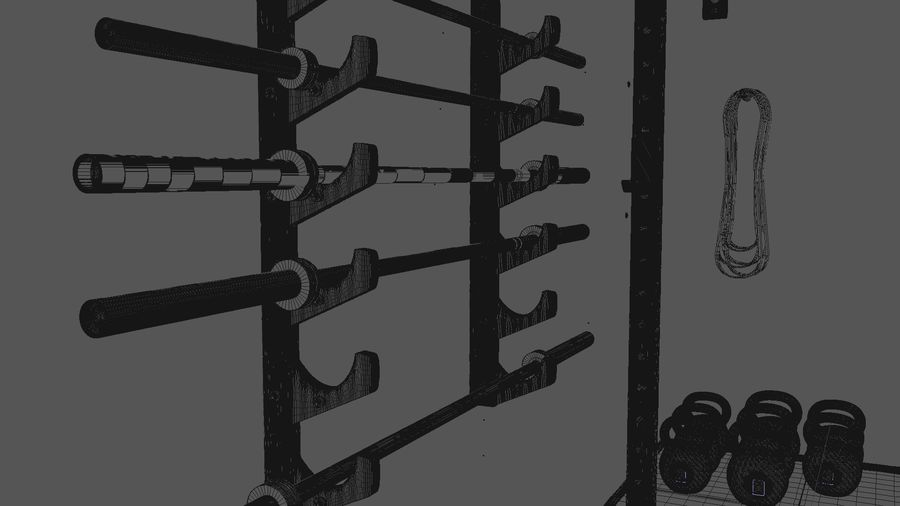 Crossfit Box royalty-free 3d model - Preview no. 16