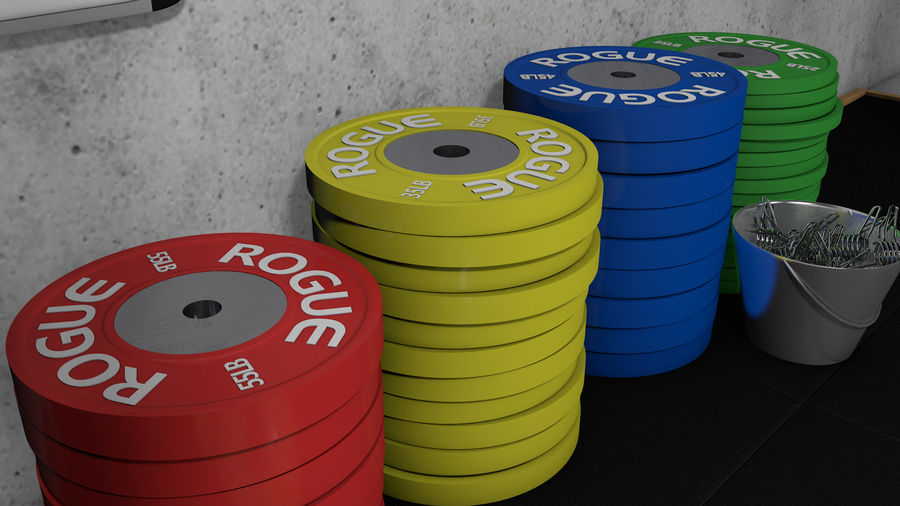 Crossfit Box royalty-free 3d model - Preview no. 9