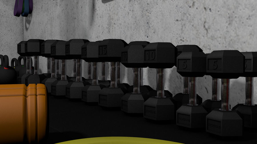 Crossfit Box royalty-free 3d model - Preview no. 7