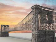 ブルックリンブリッジ 3d model