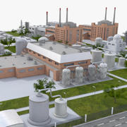 Industrial Factory 3d model