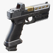 Glock 17 with Attachments 3d model