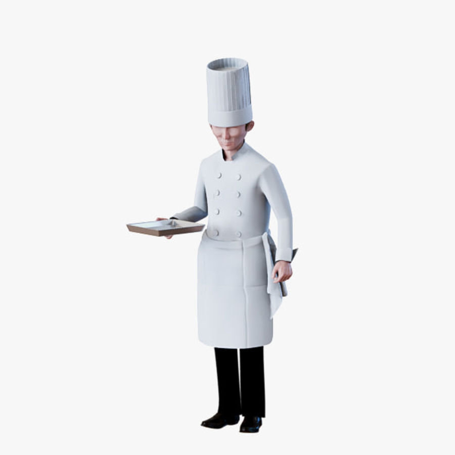 Worker 03(Cook) royalty-free 3d model - Preview no. 8