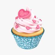 Cupcake Heart Rose 3d model