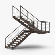 Industrial Staircases C Shaped Dirty 3d model
