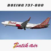 737 800 Batik Air 3d model