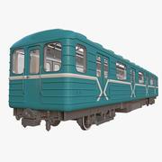 지하철 운송 3d model