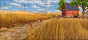 Farm Barn Landscape 3d model