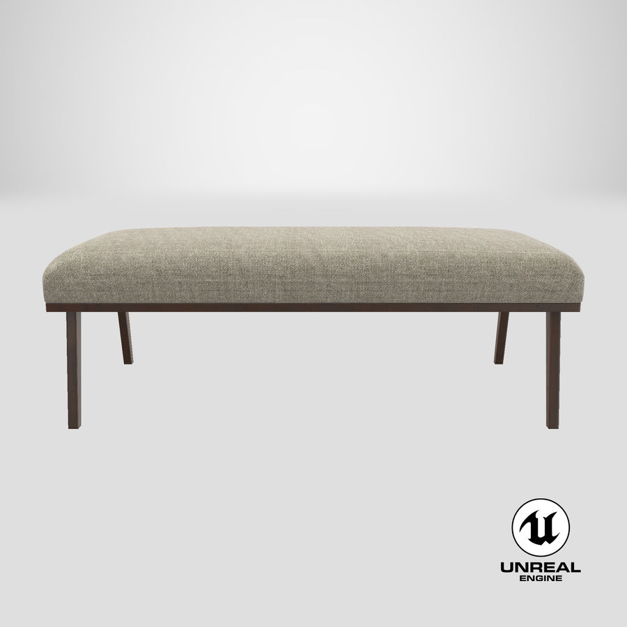 Contemporary Bench royalty-free 3d model - Preview no. 25