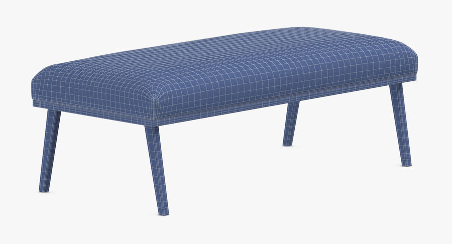 Contemporary Bench royalty-free 3d model - Preview no. 16