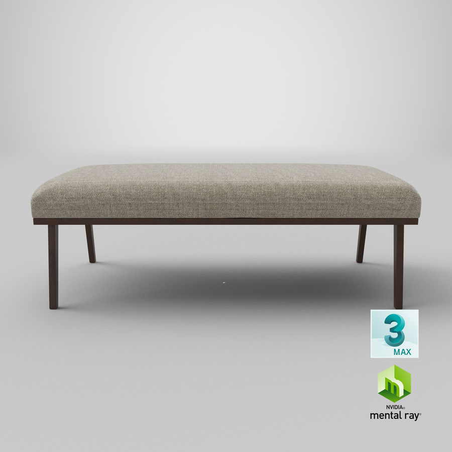 Contemporary Bench royalty-free 3d model - Preview no. 23