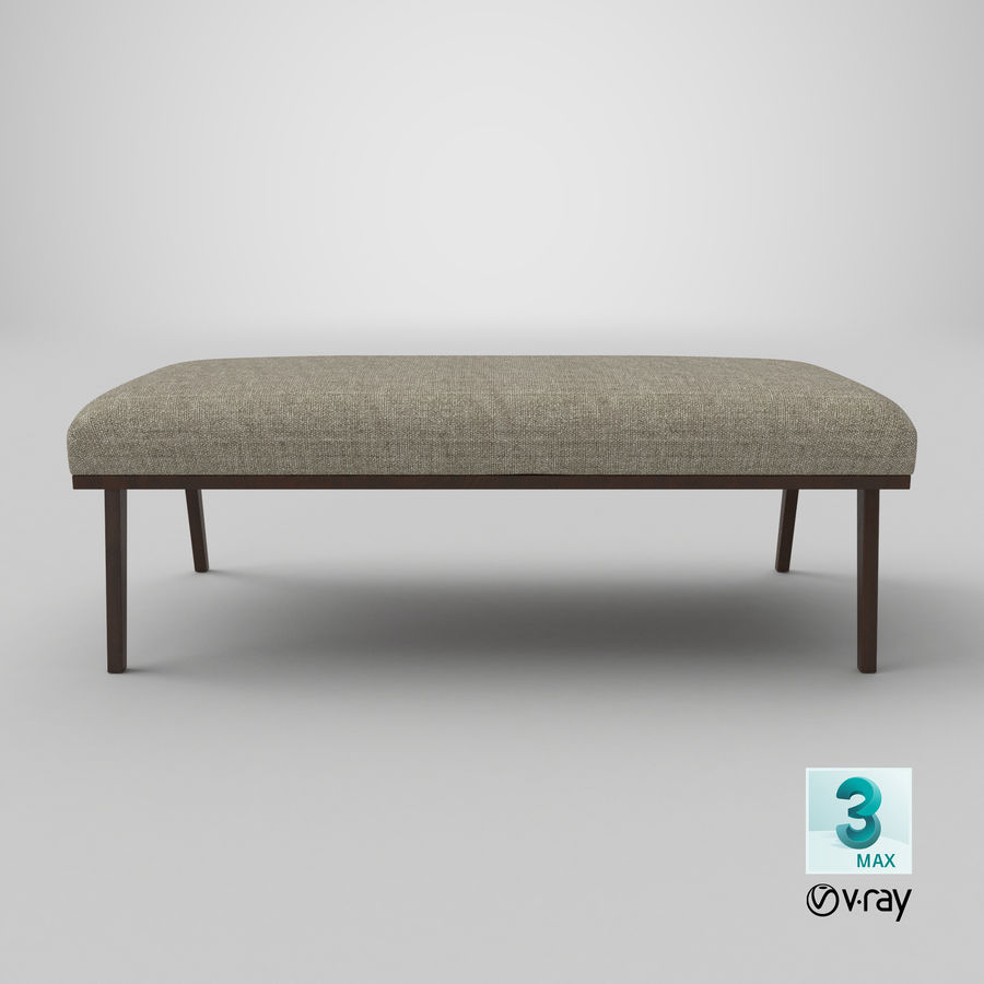 Contemporary Bench royalty-free 3d model - Preview no. 22