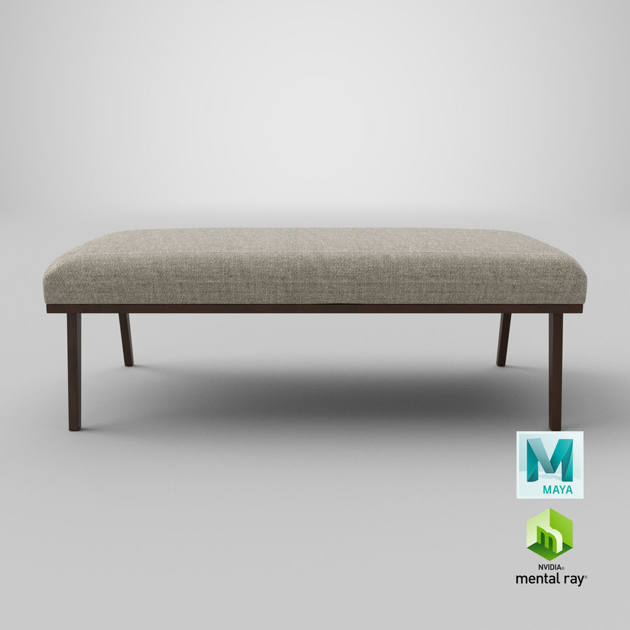 Contemporary Bench royalty-free 3d model - Preview no. 21