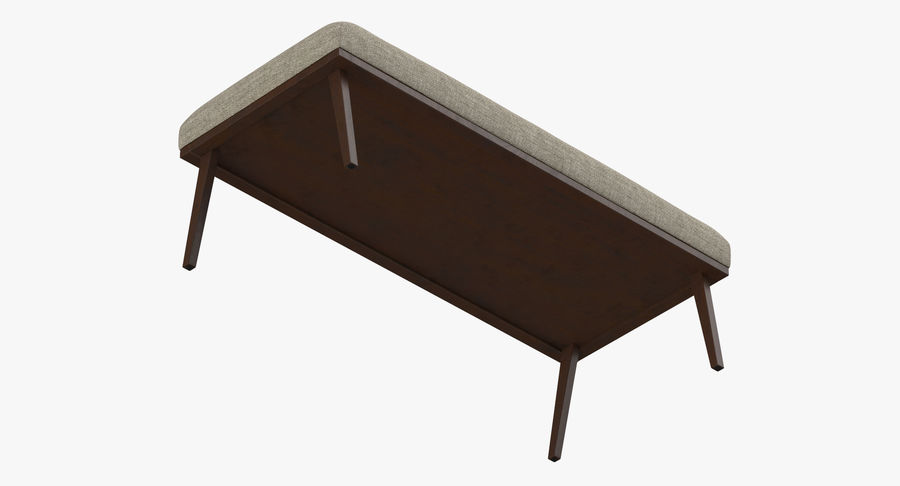 Contemporary Bench royalty-free 3d model - Preview no. 9