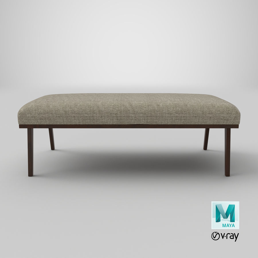 Contemporary Bench royalty-free 3d model - Preview no. 20