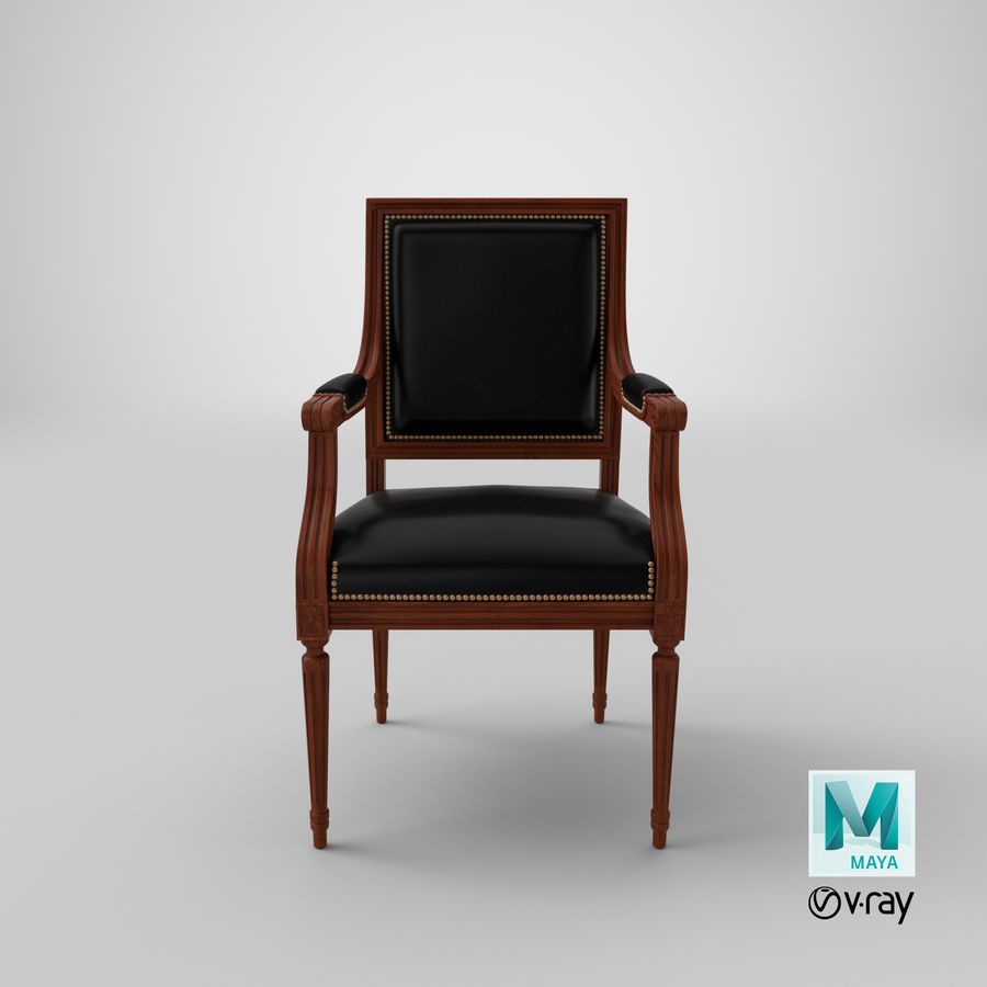 Classical Office Chair royalty-free 3d model - Preview no. 20