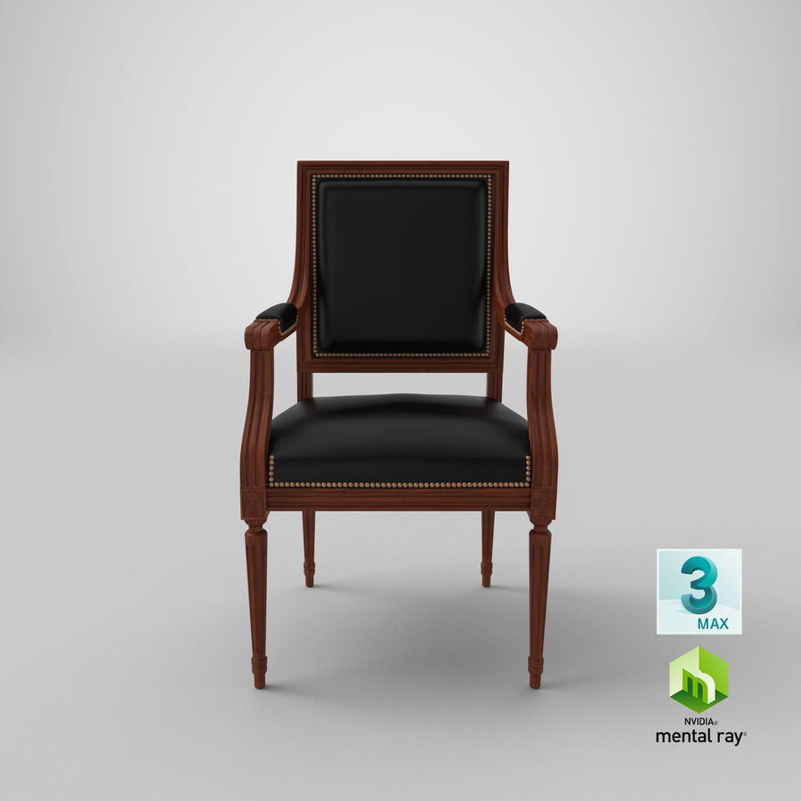 Classical Office Chair royalty-free 3d model - Preview no. 23