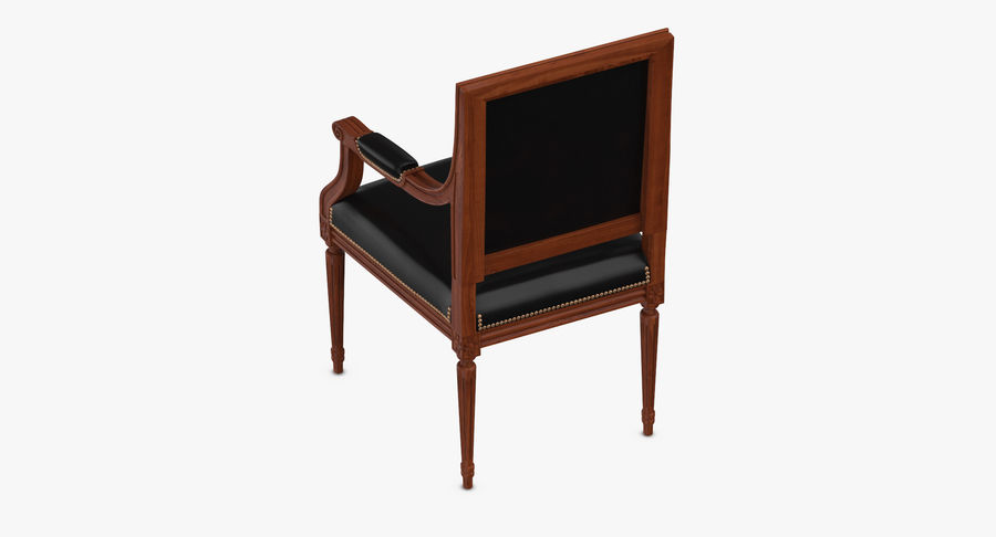 Classical Office Chair royalty-free 3d model - Preview no. 6