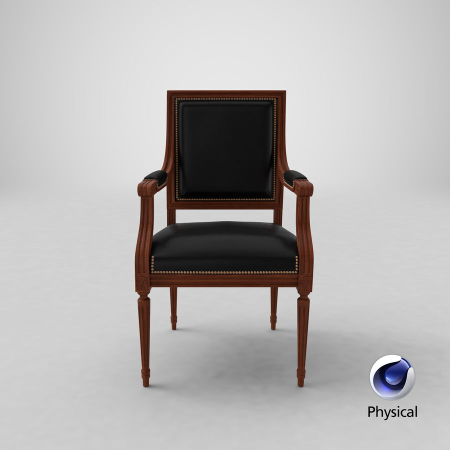 Classical Office Chair royalty-free 3d model - Preview no. 24