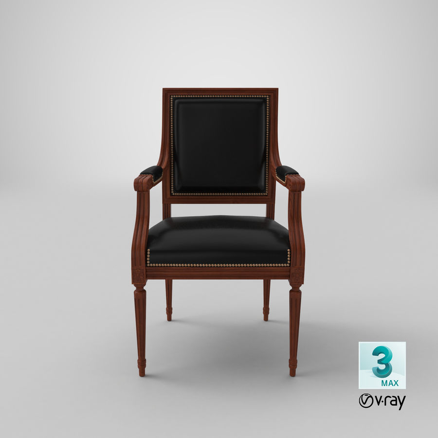 Classical Office Chair royalty-free 3d model - Preview no. 22