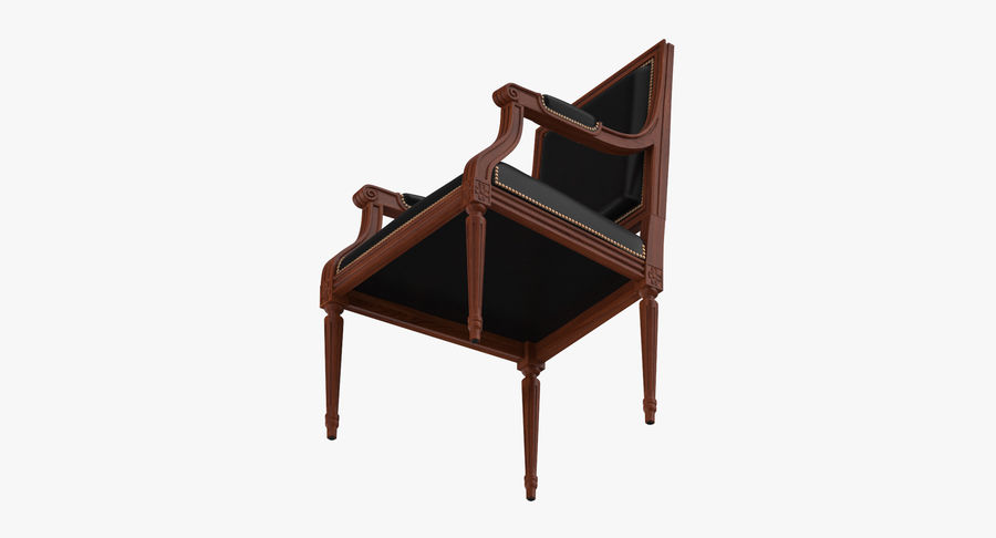 Classical Office Chair royalty-free 3d model - Preview no. 9