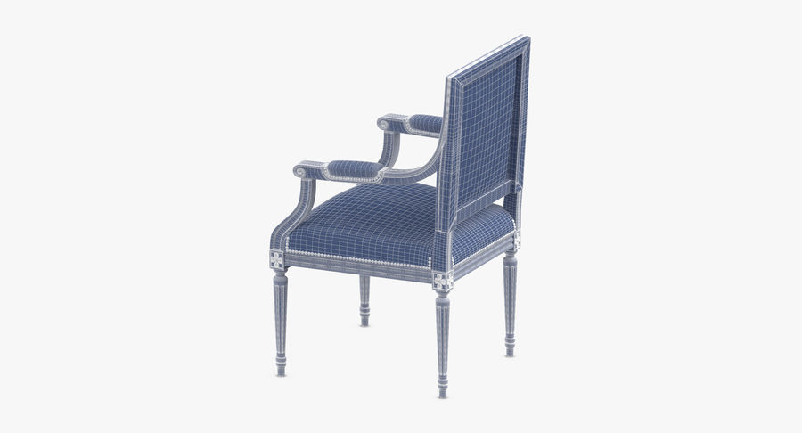 Classical Office Chair royalty-free 3d model - Preview no. 12