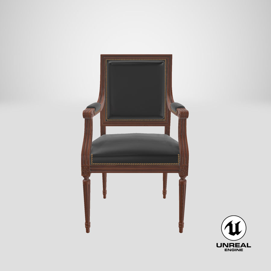 Classical Office Chair royalty-free 3d model - Preview no. 25